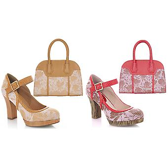 Ruby Shoo Women's Cassandra Bar Shoes & Matching Cancun Bag