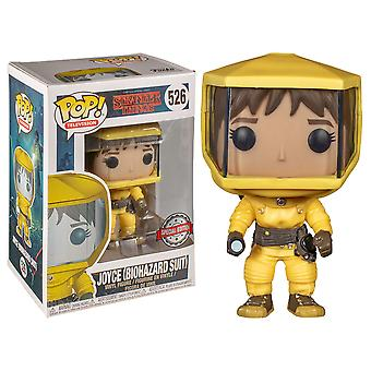 Stranger Things Joyce dans Hazmat Suit US Exclusive Pop! Vinyle