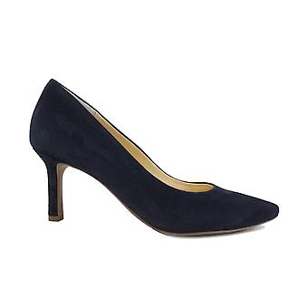 Paul Green 3757-12 Blue Suede Leather Womens Stiletto Court Shoes