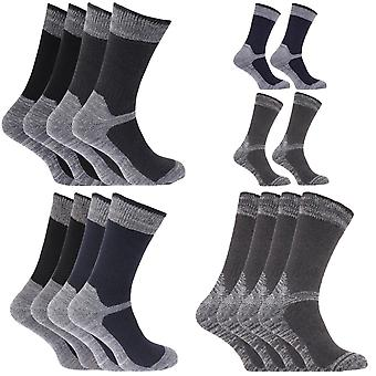 Mens Heavy Weight Reinforced Toe Work Boot Socks (Pack Of 4)