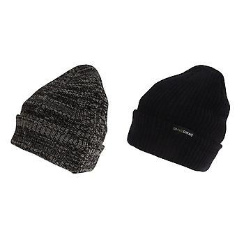 Pro Climate Mens Messy Stripe Winter Beanie