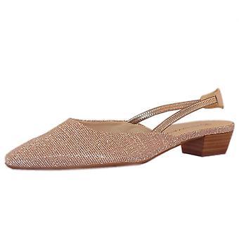 Peter Kaiser Castra Women's Dressy Low Heel Sandals In Powder Shimmer