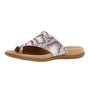 Gabor Lanzarote Comfortable Sandal Mules In Linen