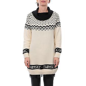Twin-set 192tp332d04208 Women's White Acrylic Sweater