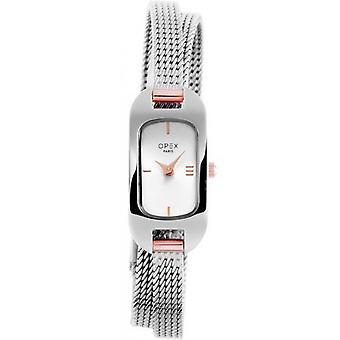 Opex OPW007 Watch - BLER Grey Steel Bracelet Grey Steel Silver Steel Women