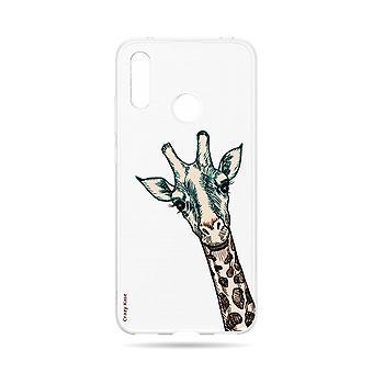 Rumpf für Huawei Y7 2019 Flexible Giraffe Kopf