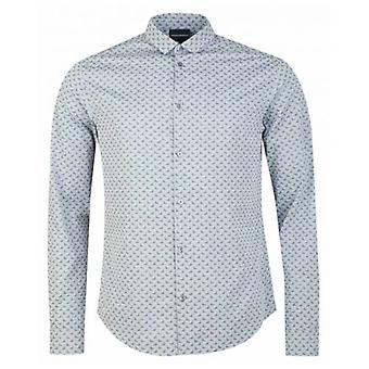 Armani All Over Eagle Long Sleeved Shirt
