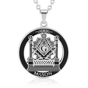 Mason pillars lodge masonic pendant necklace