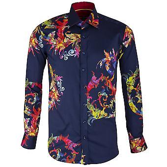 Claudio Lugli tie-väri barokki kuvioitu printti Miesten paita