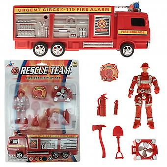 Brandweerauto speelset 9 delig