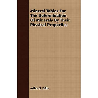 Mineral Tables For The Determination Of Minerals By Their Physical Properties by Eakle & Arthur S.