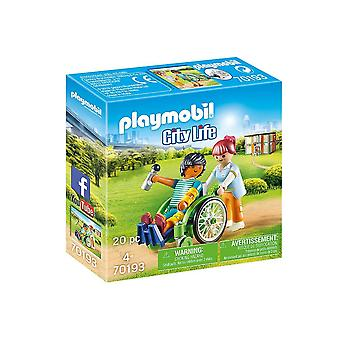 playmobil 70193 city life patient in wheelchair 20pcs for ages 4 and above