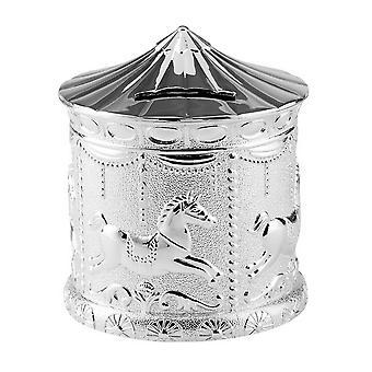 Orton West Carousel Money Box - Silver