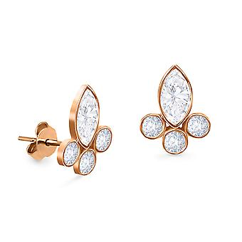 Boucles d'oreilles Mary Queen Stud 18K Or and Diamonds (Single Piece)