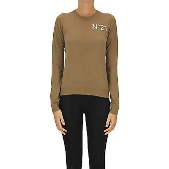 Ezgl068187 Femmes-apos;s Pull en laine brune