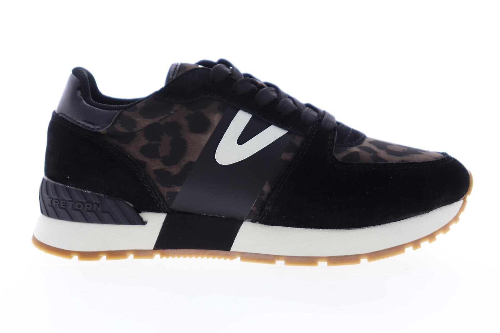 Tretorn Loyola 9 Womens Black Suede Lace Up Low Top Sneakers Schoenen - Gratis verzending WA2xTq