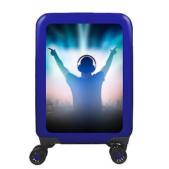 meinTrolley Music DJ S, 4 Rollen, 55 cm, 32  L, Blau