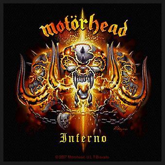 Patch Motorhead Inferno bande Logo officiel nouveau noir coton coudre (10 cm x 10 cm)
