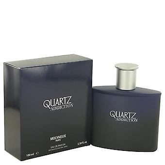 Quartz Addiction Eau De Parfum Spray By Molyneux 3.4 oz Eau De Parfum Spray