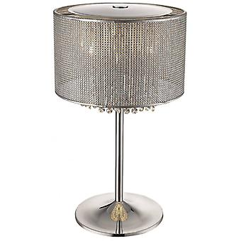 Brighton Silver Table Lamp 4 Lights