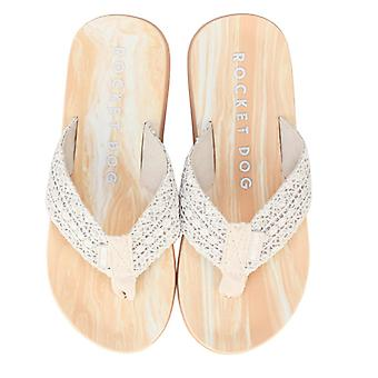 Women's Rocket Dog Adios Pearl Flip Flops in Cream