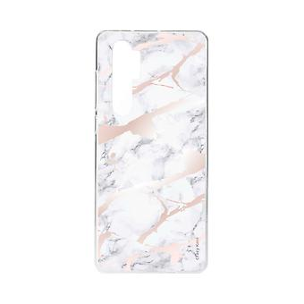 Hull For Xiaomi Mi Note 10 Lite Soft Pink Marble Effect