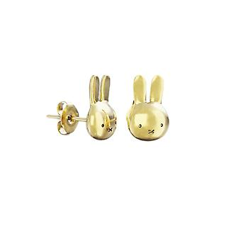 Miffy 18ct Gold Plated Vermeil Mini Head Stud Earrings