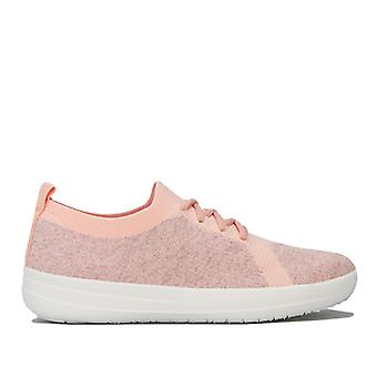 Women's Fit Flop F-Sporty Uberknit Trainers in Pink