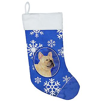Carolines aarteita SS4623-CS Ranskanbulldoggi talvella lunta jouluna Stocki
