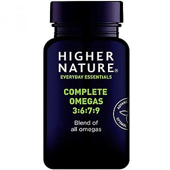 Higher Nature Complete Omega 3-6-7-9 Capsules 180 (QEO180)