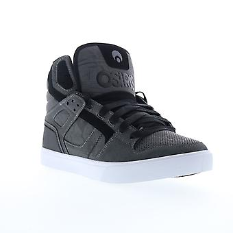Osiris Clone  Mens Gray Canvas Lace Up Athletic Skate Shoes