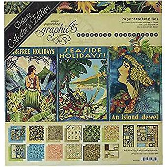 Grafiikka 45 Tropical Travelogue 12x12 Inch Deluxe Collectors Edition