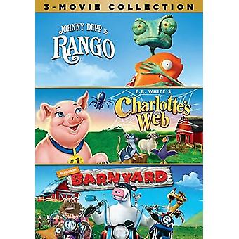 Rango / Charlotte's Web / Barnyard [DVD] USA import