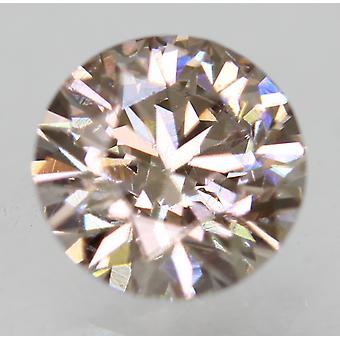 Cert 0.75 Carat Fancy Brown VVS2 Round Brilliant Enhanced Natural Diamond 5.78mm