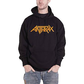 Anthrax Hoodie Evil Twin Band Logo new Official Mens Black Pullover