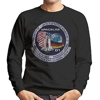 NASA STS 61 A Challenger Mission Badge Distressed Men's Sweatshirt
