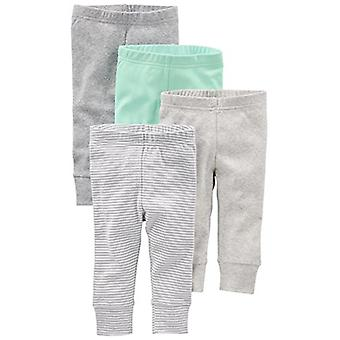 Simple Joys by Carter's Baby 4-Pack Pant, Gray/Mint, 24 Months