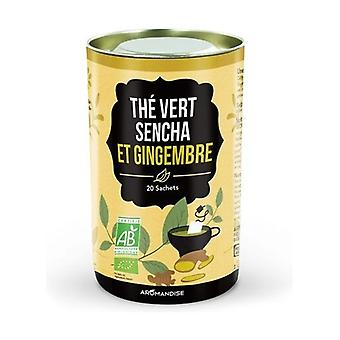 Duo Sencha green tea and ginger 20 packets of 2g