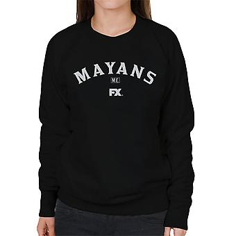Mayans M.C. Motorcycle Club Logo White Women's Sweatshirt