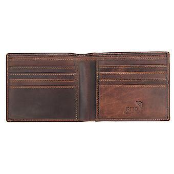 Primehide Mens Portefeuille en cuir RFID Blocage Porte-carte Notecase Gents 4700