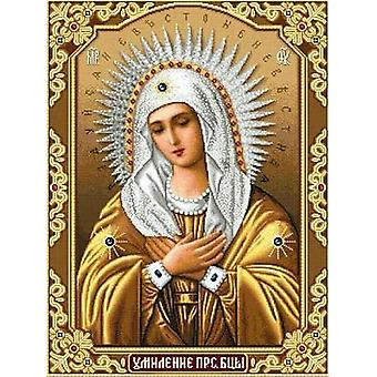 Diy Diamond Mosaico Ricamo Icone Rhinestones Immagine - No Frame Full Square Drill Religion Virgin Mary Diamond Painting
