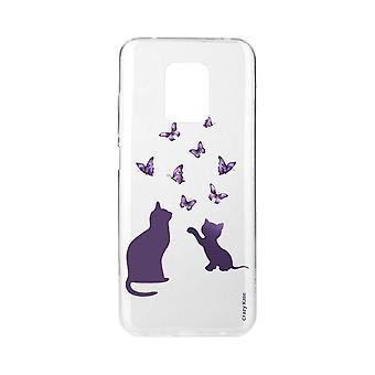 Casco para Xiaomi Redmi Note 9 Pro Soft Kitten jogando com borboleta