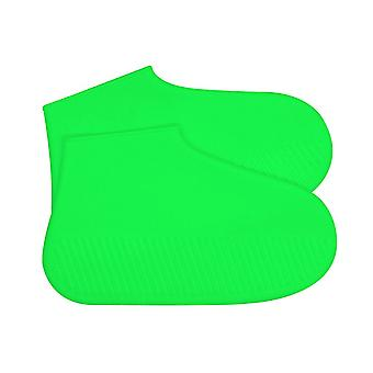 Silicone Waterproof Shoe Covers Green Small