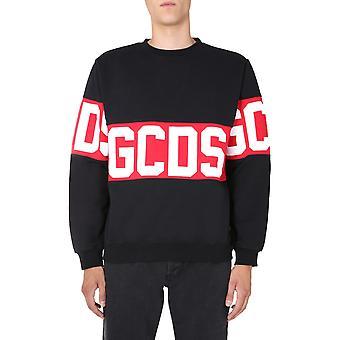 Gcds Cc94m02101202 Heren's Zwart Katoen Sweatshirt