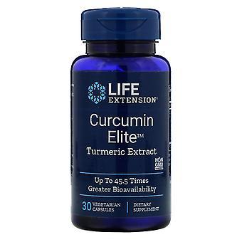 Prolongation de la durée de vie utile, Curcumine Elite, Extrait de curcuma, 30 capsules végétariennes