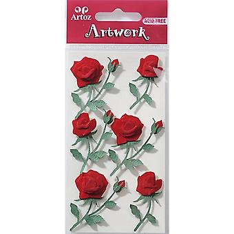 Red Roses Craft Embellishment By Artoz