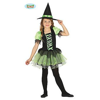 Guirca Green Witch witch costume for Halloween girl dress