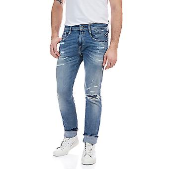 Replay Men's Aged 20 Years Sustainable Cycle Anbass Jeans Slim Fit