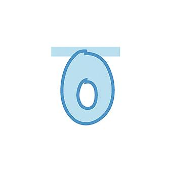 Linking Banner 20cm Baby Blue Letter - O Party Decoration