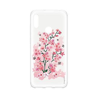 Casco para Huawei Y6s flores de cerezo suave